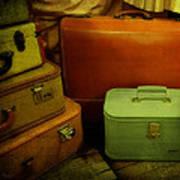 Suitcases In The Attic Art Print