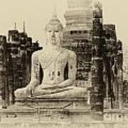 Buddha Sukhothai Thailand 1 Art Print