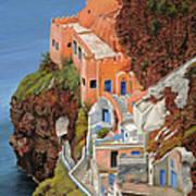 sul mare Greco Art Print by Guido Borelli