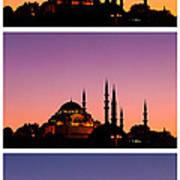 Suleymaniye Sundown Triptych 03 Art Print