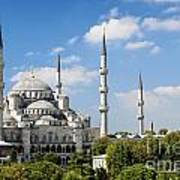 Sultan Ahmed Mosque Landmark In Istanbul Turkey Art Print