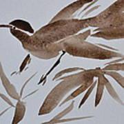 Sumi Bird Art Print