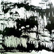 Sumi-e 130425-4 Art Print