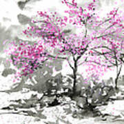 Sumie No.2 Plum Blossoms Art Print