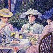 Summer Afternoon Tea In The Garden-1901 Art Print