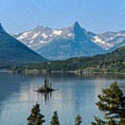Summer At Glacier National Park Art Print
