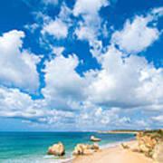 Summer Beach Algarve Portugal Art Print
