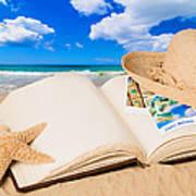 Summer Book Art Print