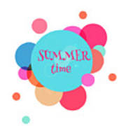 Summer Colorful Background With Text - Art Print