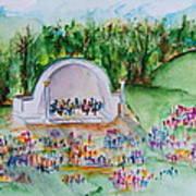Summer Concert In The Park Art Print