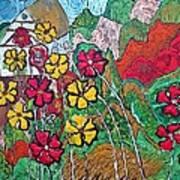 Summer Cottage Art Print by Matthew  James