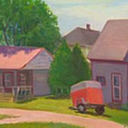 Summer Cottages Maine Art Print