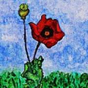 Summer Day Poppy Art Print