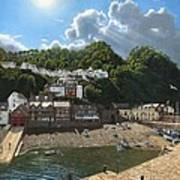 Summer Evening Clovelly North Devon Art Print