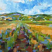Summer Field 1 Art Print by Becky Kim