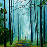 Summer Forest - Palette Knife Oil Painting On Canvas By Leonid Afremov Art Print