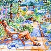 Summer In An Irish Garden  Art Print