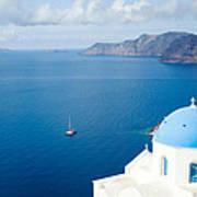 Summer In Santorini - Greece Art Print