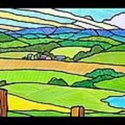 Summer In The Shenandoah Valley Art Print