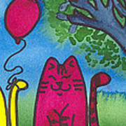 Summer Kittens Art Print