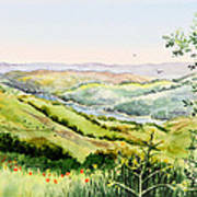 Summer Landscape Inspiration Point Orinda California Art Print