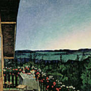 Summer Night Art Print by Harald Oscar Sohlberg