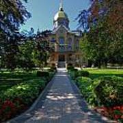 Summer On Notre Dame Campus Art Print
