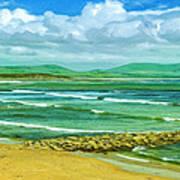 Summer On The Irish Coast Art Print