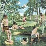 Summer Scene Art Print by Frederic Bazille