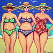 Summer Sisters - Beach Art Print