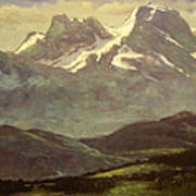 Summer Snow On The Peaks Or Snow Capped Mountains Art Print