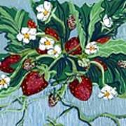 Summer Strawberries Art Print