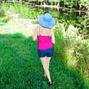 Summer Stroll In The Park - Art By Sharon Cummings Art Print by Sharon Cummings