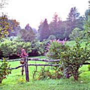 Summer Valley Fence Art Print
