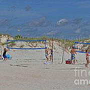 Summer Volley Ball Art Print by Deborah Benoit