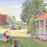 Summertime At The Gazebo Art Print