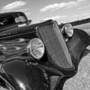 Summertime Blues In Black And White - Ford Coupe Hot Rod Art Print