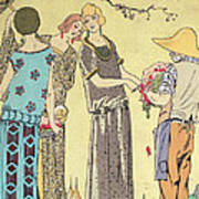 Summertime Dress Designs By Paul Poiret Print by French School