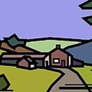 Summertime On Joe's Farm Art Print by Kenneth North