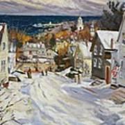 Summit Avenue In Winter Art Print