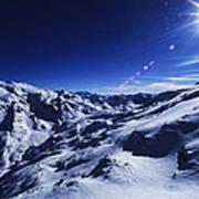 Summit Of The Italian Alps In Winter Art Print
