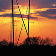 Sun And Masts Art Print