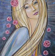 Sun And Roses 081008 Art Print