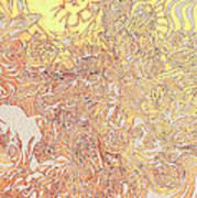 Sun Cow Art Print