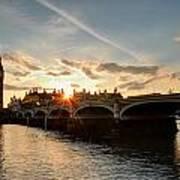 Sun Down London Art Print