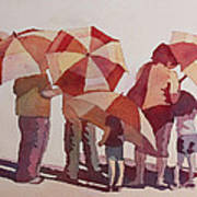 Sun Drenched Parasols  Art Print