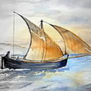 Sun In The Sails  Art Print