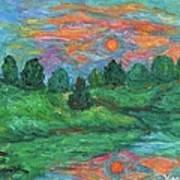 Sun In Water Art Print