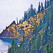 Sun Notch On A Rainy Day At Crater Lake National Park-oregon Art Print