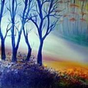 Sun Ray In Blue  Art Print